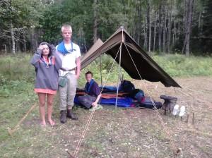 Ingå explorerscouter hade på Grimm 2013 ett av de snyggaste tältena ledarna någonsin sett.